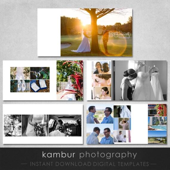Classic Wedding Album Design: 12X12 PSD 30 Pages Wedding Album Template 15 By KamburDesign