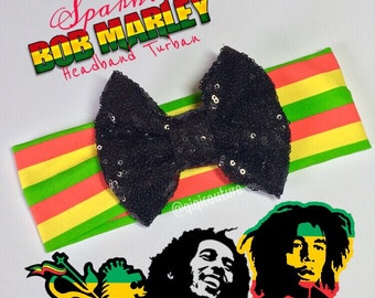 One Love Bob Marley Rasta headband