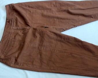 Nine West women dress capri brown beige size 14