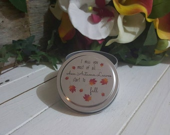 Autumn Leaves Custom Soy Candle.