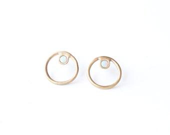 Midheaven earrings // opals // minimal // earring // jewelry // lunar