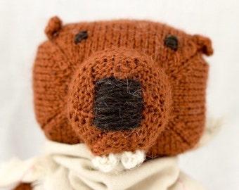 Beaver Knit Wool Doll