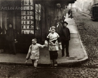 Arnold Genthe Photo, Two Children in Imperial Costume, San Francisco, 1896-1906