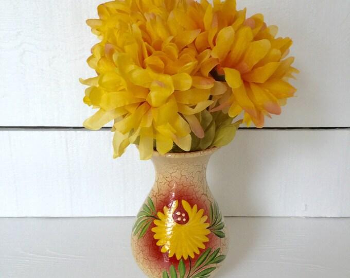 Vintage Hand Made Pottery Flower Vase