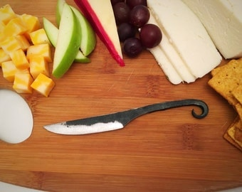 Cheese knife-hand forged knife-butter knife - cutlery-rustic cheese knife-wedding gift-hostess gift -housewarming gift-hand made knife