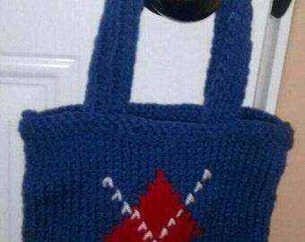 Small Scottish square blue bag