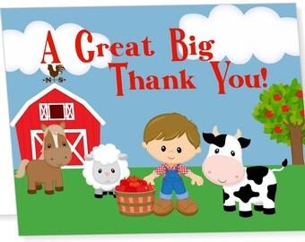 Farm Themed Thank You Card