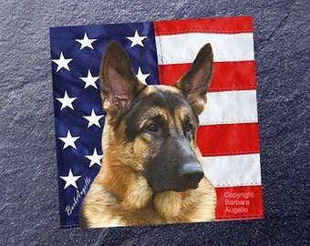 German Shepherd Coasters, German Shepherd American Flag Coasters, German Shepherd Gift, German Shepherd