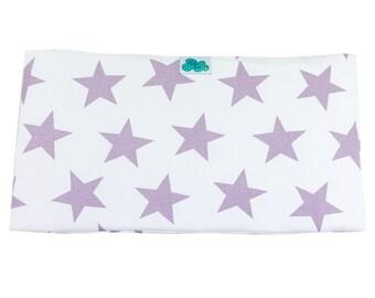 Crib Bumper. Star Mauve