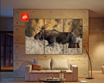 Moose  canvas wall art Moose wall decoration Moose canvas wall art art Moose large canvas wall art  wall decor