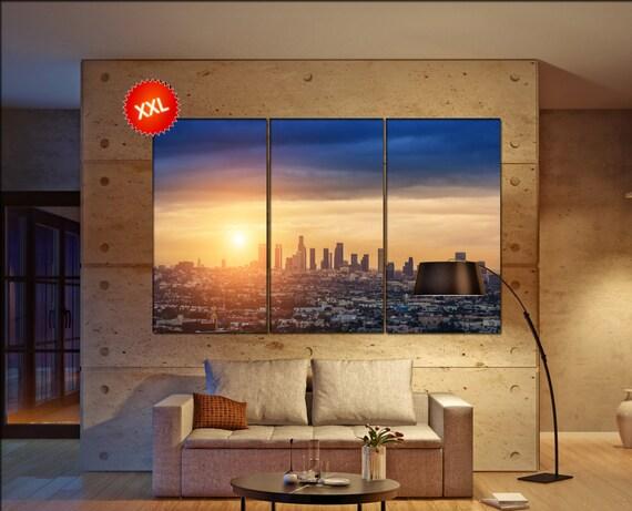 L.A. Los Angeles Skyline wall decor art  Los Angeles Skyline  black white  Los Angeles Skyline canvas wall art  canvas wall art