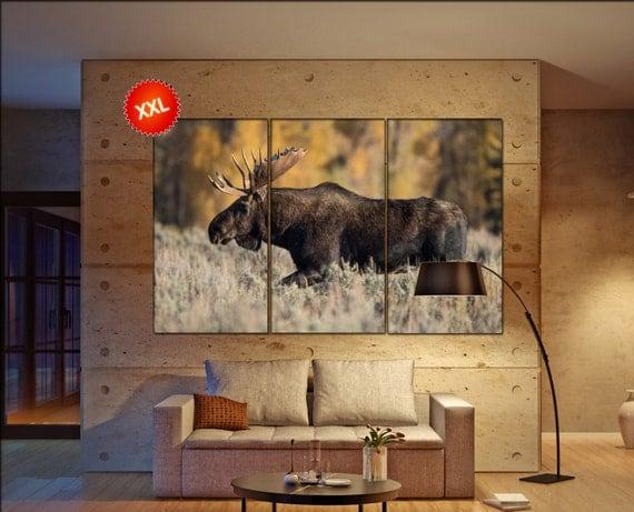 Moose  canvas wall art Moose wall decoration Moose canvas wall art art Moose large canvas wall art  wall decor