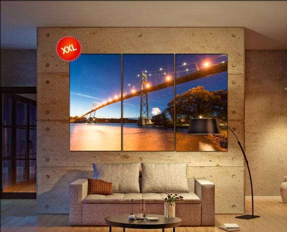 Thousand Islands Bridge  canvas wall art  Thousand Islands Bridge  wall decor canvas wall art  large canvas wall art wall decoration