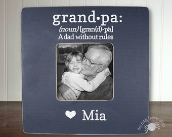 Father's Day Gift Grandpa Gift Gifts for Grandpa Grandparent Gift Personalized Frame Grandpa: a dad without rules definition IB3FSDUG