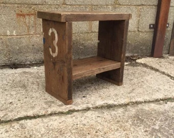 A Rustic Up-Cycled Numbered Stool