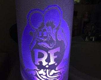 Rat Fink Glass Cylinder