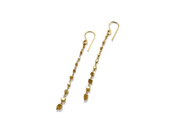 "Earrings ""Diamonds Yellow"""