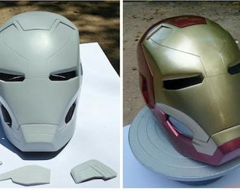 Iron man mark 46 helmet raw cast kits HD details