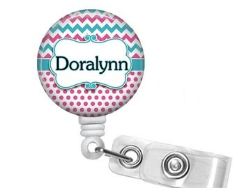 Retractable Badge Holder, Badge Reel Personalized, Badge Id Holder, Id Badge Reel, Nurse Badge Reel