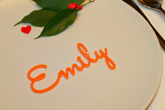 Name place settings Wedding sign Laser cut acrylic place names Escort cards Acrylic name place cards Wooden place cards Wedding table names