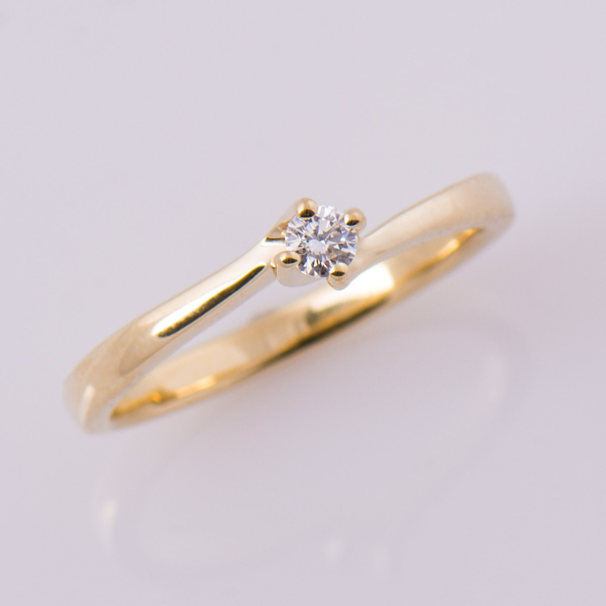 dainty diamond ring twisted engagement ring solitaire ring. Black Bedroom Furniture Sets. Home Design Ideas