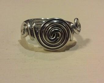 3 Spiral Ring