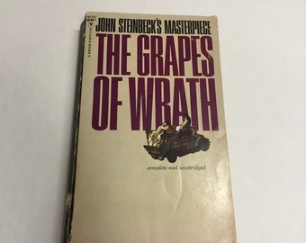 The Grapes of Wrath by John Steinbeck Vintage Book