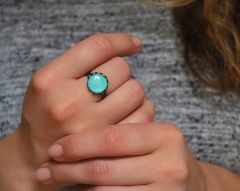 Mint ring, brass ring, adjustable ring, statement ring, statement jewelry, hipster ring, boho ring,