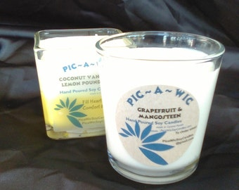 Soy Candle in Glass Cube or Tumbler