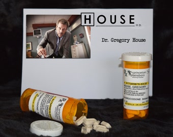 "TV Show House MD Exact Replica ""Gregory House"" Prescription Vicodin* Pill Bottle"