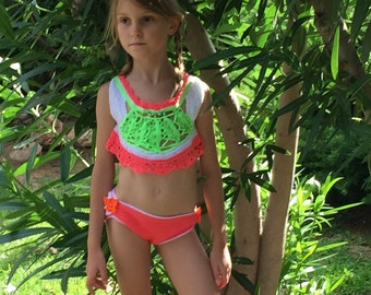 Happy handmade crochet bikini