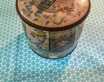 Vintage Tin Canister Made in England Kitchen Canister
