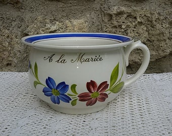 Married chamber pot / french Antique / Sarreguemines Digoin / French