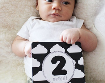 Baby Milestone Cards, Monochrome, Baby's First Year, Baby Gift, Baby Shower Gift, Modern Baby, Baby Boy, Baby Girl