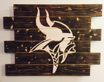 Minnesota Vikings man cave wood sign