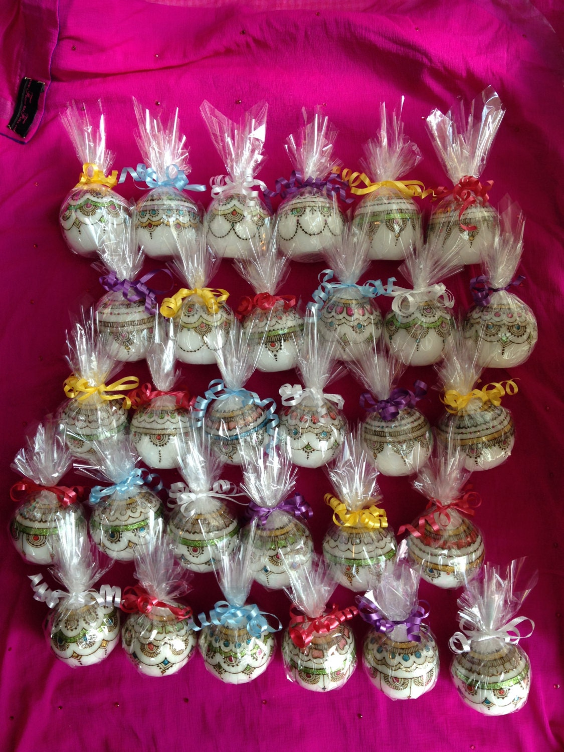 Indian Wedding Favor Ideas: Set Of 30 Candles Wedding Table Decor Wedding Favours