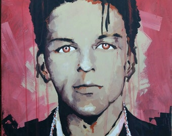 Frank Sinatra 24 x 30 original acrylic painting on canvas