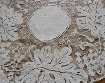 Lovely Antique French Filet Lace Doilly
