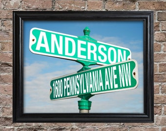 Personalized Street Sign Framed Print - Wall Decor