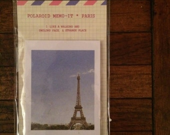 Eiffel Tower Polaroid Mini Post It Notes