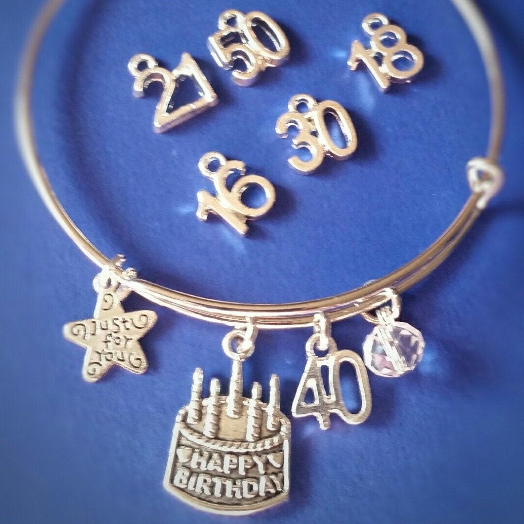 21st Birthday JewelryBirthday Bracelet By ImpressionsbyJacleen