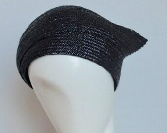 40% Black Straw Snail Hat