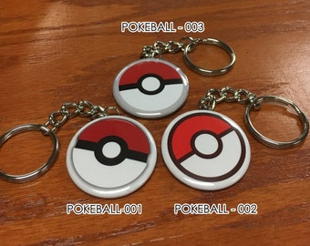 Pokemon Go Inspired Pokeball Keychain