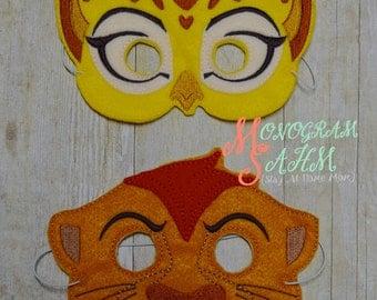 Lion Cheetah Mask Set