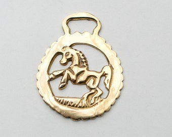 Horse Brass Dancing Horse - Christmas Tree Decoration - Equestrian Collectable