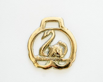 Swan Horse Brass - Christmas Tree Decoration - Equestrian Collectable