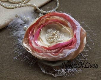 Wedding hair flower Bridal hair flower Wedding hair accessories Bridal hair accessories Wedding  Lace  Vintage white