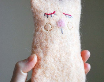 Pink wool iPhone case