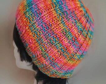 Neon Rainbow Multicolor Beanie