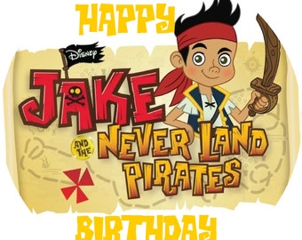 Jake And The Neverland Pirates Birthday Rice-Wafer-Paper Cake Topper